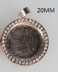 로즈 골드 라운드 20mm