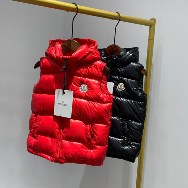 2 -8 year new girls boy baby hooded down vest coat kids down jacket vest autumn winter children's clothes duck down vests brand thumbnail