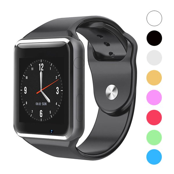 A1 Smartwatch Bluetooth Smart Watch Sports Wristwatch Support SIM / TF Card With Camera For Apple iPhone Samsung Android Smartphones