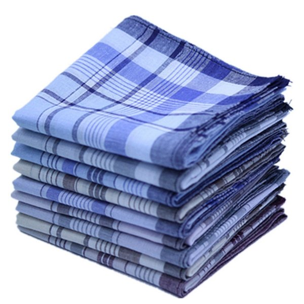 Платки в клетку в полоску носовой платок 100% хлопок носовые платки Бизнес карманный платок Урожай для мужчин Полотенце Классические квадраты Шарфы YW3265