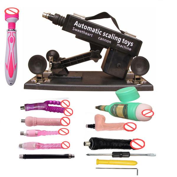 Бесплатная доставка роскошный автоматический секс пулемет набор для мужчин и женщин, делая любовь машина с мужской мастурбации чашки и большой фаллоимитатор игрушки