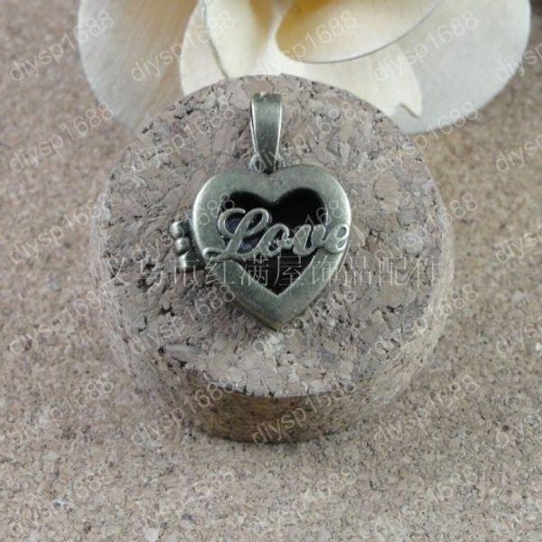 10pcs 20*20*7MM Antique bronze love heart photo locket charms vintage metal picture frame pendants necklace bracelet earring jewelry making