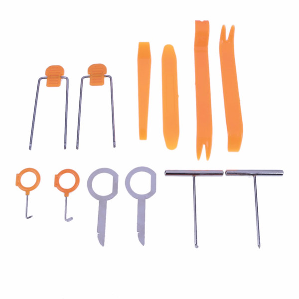audio panel 12 Pcs/Set Professional Vehicle Dash Trim Tool Car Door Panel Audio Dismantle Remove Install Pry Kit Refit Set Tools Car-styling