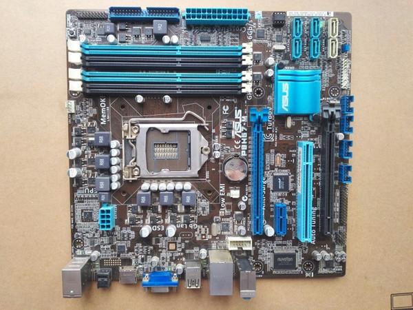 Verwendet, Asus P8H67-M Desktop Motherboard H67 Sockel LGA 1155 i3 i5 i7 DDR3 32G uATX