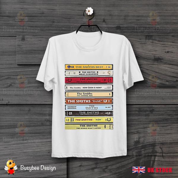The Smiths Albums Cassette Cool Vintage Unisex T Shirt Funny 100% Cotton T Shirt Colour Jersey Print T Shirt