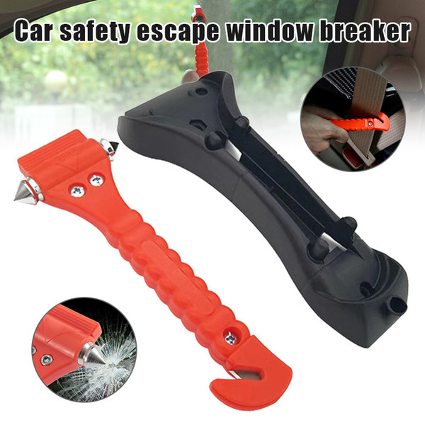 car safety hammer escape glass window breaker emergency escape tool with seat belt cutter jdh99