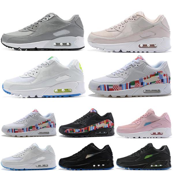 Neu Nike DamenHerren Air Max 90 Se Laufschuhe Rosa Größe 42
