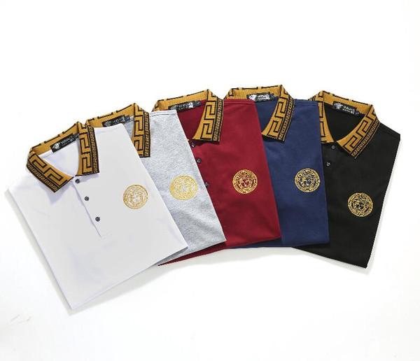 supremo Erkek T Shirt Moda Erkek Giyim Yaz Casual Streetwear Tişörtlü Perçin Pamuk Blend Mürettebat Yaka Kısa Kollu