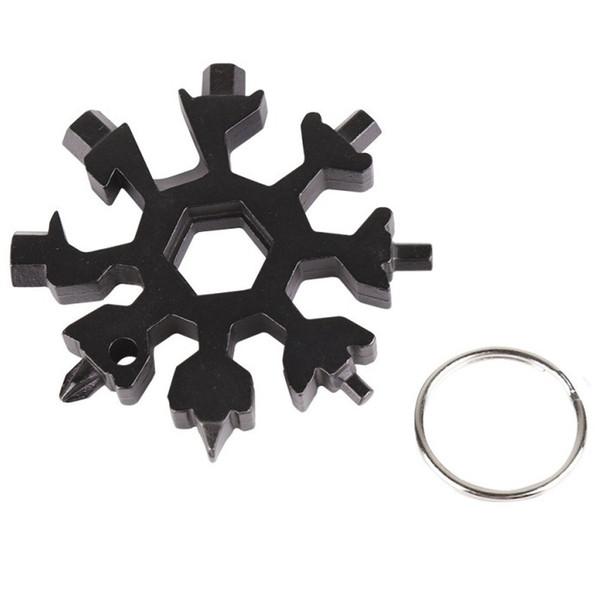 Snowflake 12-in-1 Multi Tool Llave hexagonal EDC Abrebotellas Destornillador Llaveros - Gadget multifunción Tarjeta al aire libre Reparación de bicicletas