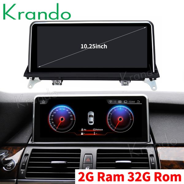 Krando Android 9.0 10.25 '' auto sistema di navigazione per BMW X5 E70 / E71 X6 2010-2013 car audio radio lettore multimediale GPS Dvd