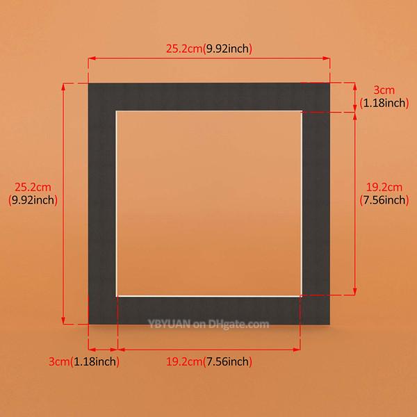 Siyah Kare 10X10 inç