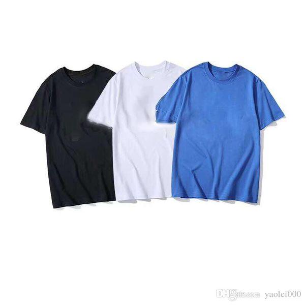 T-shirt di marca M-2XL 2R323 T-shirt da uomo allentata stampata a maniche corte in cotone traspirante con stampa a maniche corte di alta qualità