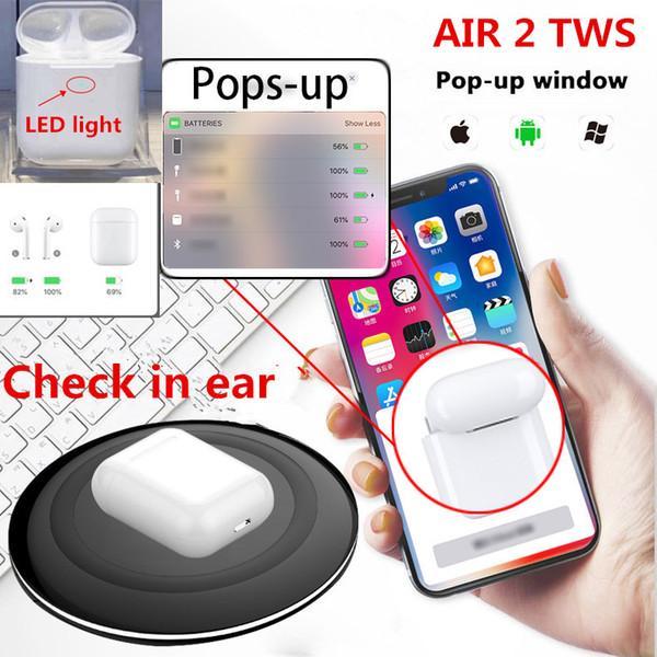 Air 2 écouteurs i200 TWS Bluetooth avec capteur W1 Capteur Pop up Capacité réelle de la batterie Écouteurs sans fil vs i20 i30 i60 i80 i100