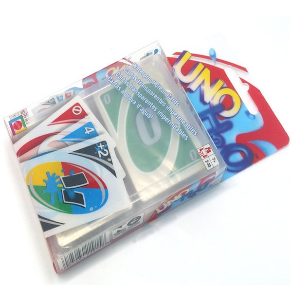 plastic transparent waterproof playing cards paper card board fold entertainment game family fun poker game russian rules