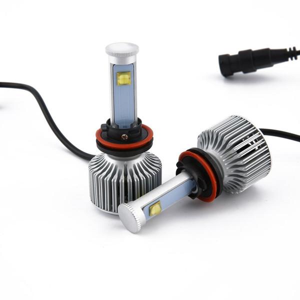 1 par LED H4 / H11 Faros delanteros LED para automóviles H8 H9 Lámpara de luz de cabeza de faro automático Estilo de automóvil Versión de X7 Fuente de luz súper brillante