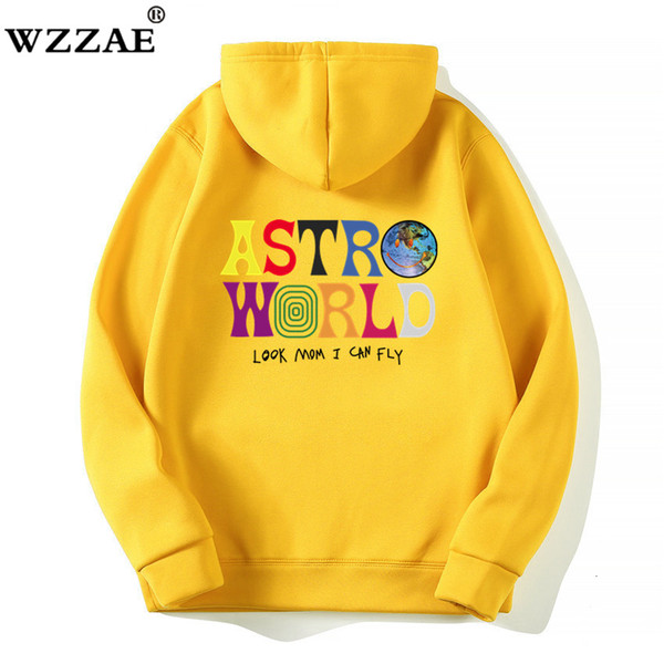 TRAVIS SCOTT ASTROWORLD WISH YOU WERE HERE HOODIES fashion letter ASTROWORLD HOODIE streetwear Man woman Pullover Sweatshirt SH190920