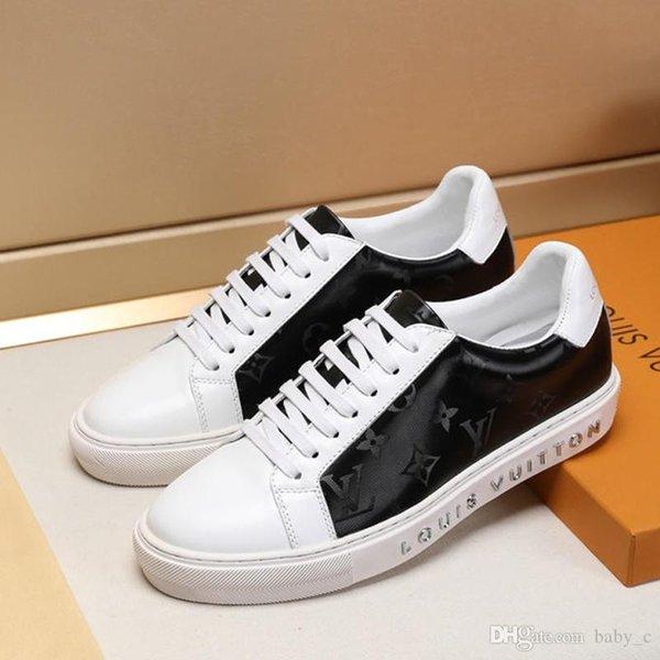novos homens de moda de luxo sapatos casuais homens de couro das sapatilhas com cordões homens respiráveis planas de alta qualidade sapatos de tamanho grande dos homens impermeáveis sapatos 2019g