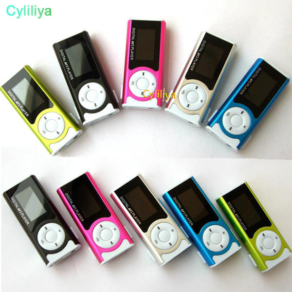 Mini Mp3 Player With LCD Screen Built in Speaker Music Support 2GB 4GB 8GB 16GB 32GB TF card MP3 player new