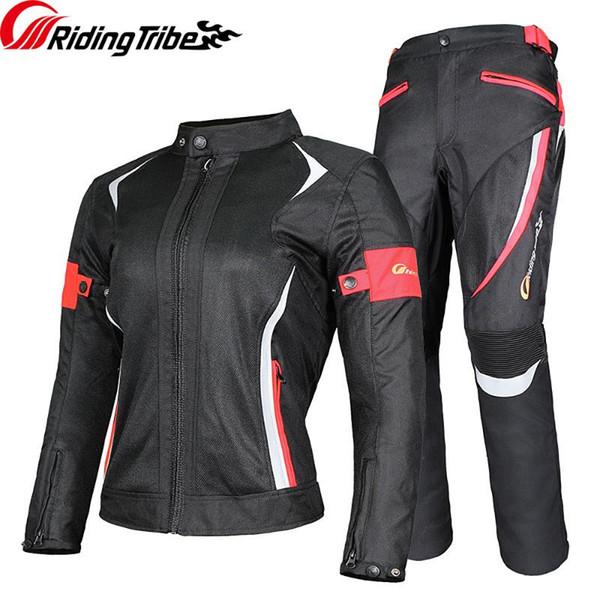 Kadınlar Motosiklet Ceket Pantolon Yaz Kış Su geçirmez Sıcak Emniyet Giyim Lady Kız Binme Koruyucu Coat Pantolon Suit JK-52
