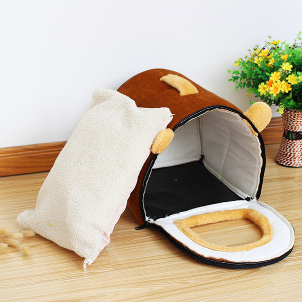 Newly Pet Dog House Foldable Bed With Mat Soft Winter Pet Dog Puppy Sofa Cushion House Kennel Nest Dog Cat Bed Small Medium Dogs