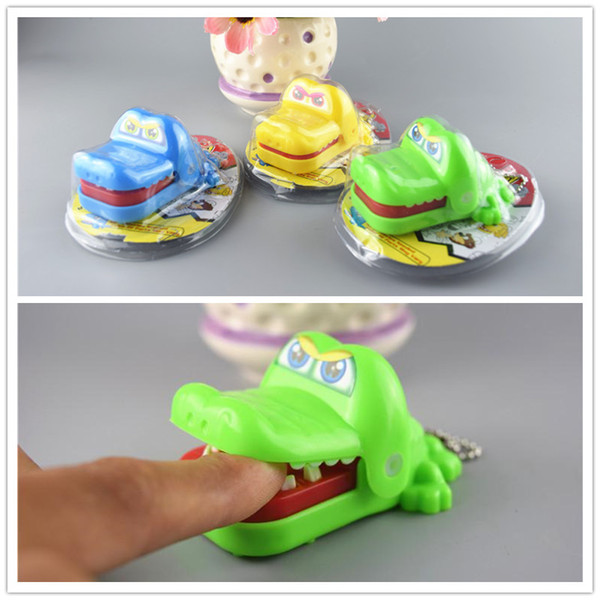 best selling Crocodile Dentist Toys Shark and Crocodile tooth toys 7.5*5.5*4cm big mouth bite fingers Interactive toy plastic animal Keychain Kids gifts