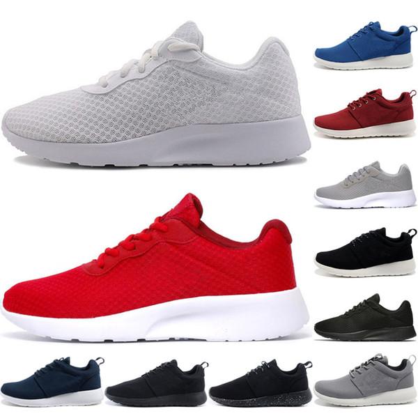 Compre Nike Air Roshe Run One Triple Blanco Olímpico De Londres Zapatos Para Correr Clásico Respiración Triple Negro Rojo Gris Para Mujeres Al Aire