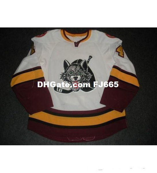 New 14 Matt Anderson Mens Womens Kids AHL Chicago Wolves 7 Chelios 100% Embroidery Custom Any Name Any No. Ice Hockey Jerseys Goalit Cut Hot