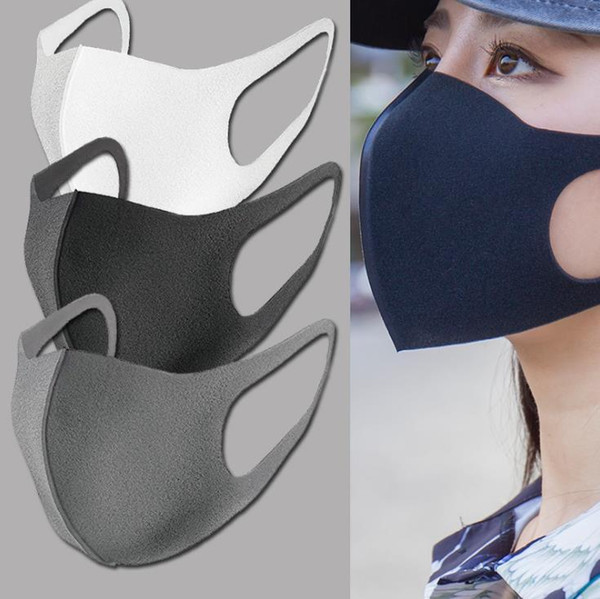 top popular In Stock! Anti Dust Face Mouth Cover PM2.5 Mask Respirator Dustproof Anti-bacterial Washable Reusable Ice Silk Cotton Masks Fast delivery 2020