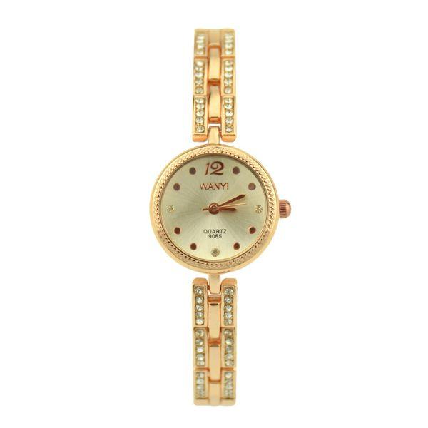 Women Round Full Diamond Bracelet Watch Analog Quartz Movement Wrist Watch New Arrival Promotional Discounts