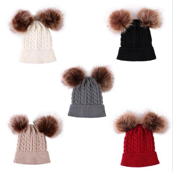 Enfants Chapeaux 2019 New Hot vente Designer tricotée Twist bébé Bonneterie Chapeaux Couverture chaud 092001