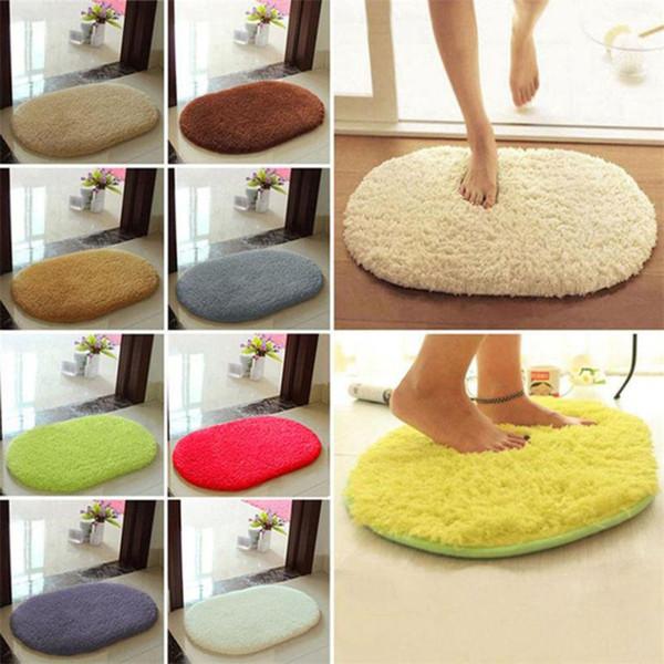 30*40cm Bathroom Carpets Mat Anti-Skid Fluffy Shaggy Area Rug Home Bedroom Bathroom Floor Door Soft Fine Fiber Mat 2017 Fashion