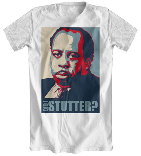 Faccio balbettare? - T-shirt bianca da uomo ispirata all'Ufficio Stanley Hudson Divertente spedizione gratuita Unisex Casual