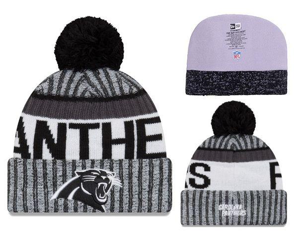 Men's Carolina Panthers New Blue 2018 Sideline Cold Black Weather Official Sport Knit Hat 02
