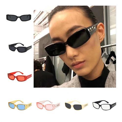Moda feminina homens hip hop óculos de sol retro retângulo óculos de sol óculos anti-uv óculos óculos de proteção óculos de armação pequena quadro a ++
