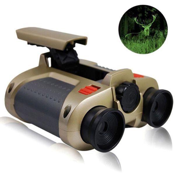4x30 Binocular Telescope Pop-up Light Night Vision Scope Binoculars Novelty Children Kid Boy Toys Light Tool