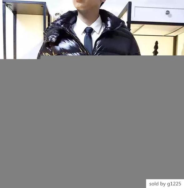 Francia Hombres chaqueta MAYA ganso abajo cubre Brillante Mate al aire libre para hombre con capucha caliente collar de plumas Escudo Doudoune invierno Outwear chaquetas Parka