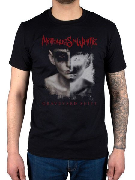Official Motionless In White Split Screen T-Shirt Reincarnate Graveyard Shift Funny free shipping Unisex Casual Tshirt top