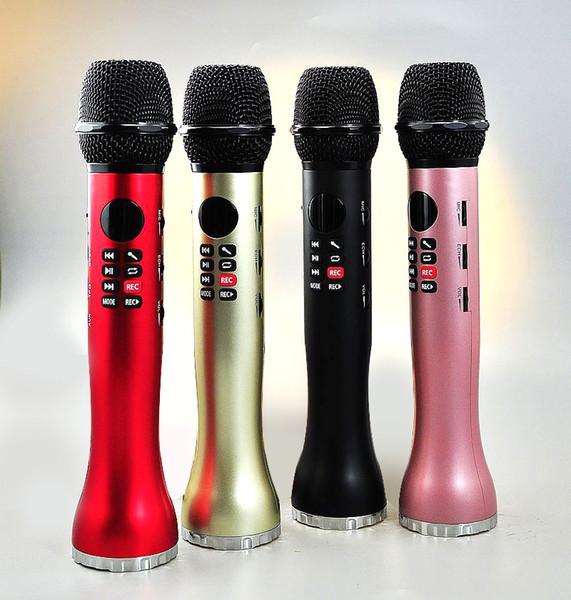 L-598 Drahtloses Mikrofon Handheld-Karaoke-Bluetooth-Lautsprecher Led-Bildschirm Tf-Karte Singing Recorder Singen Sie überall und jederzeit