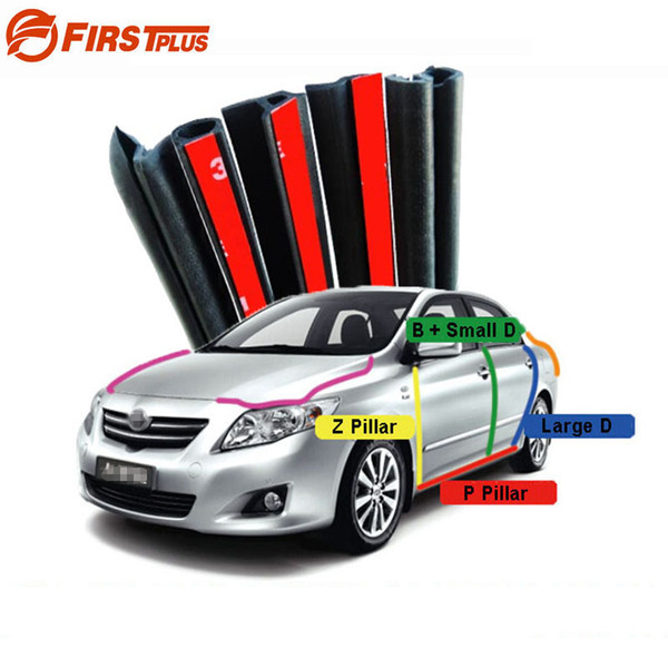 For Toyota Corolla Camry Rubber Seal Straps Front Rear Doors Bonnet Trunk  Cover Anti Noise Dust Sealing Strips B D P Z Type Automotive Detailing