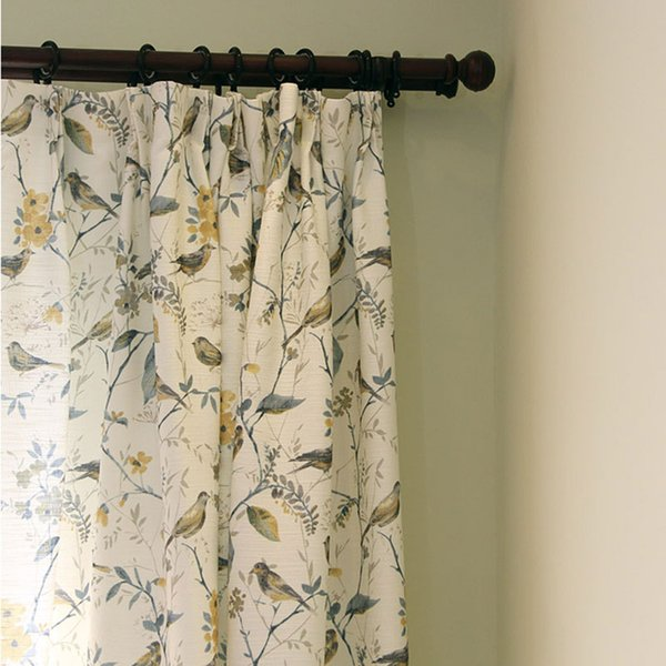 2019 Single Panels Bird Curtains For Living Room Rustic Home Decor American  Style Printed Curtains Drapes From Adeir, $37.68 | DHgate.Com