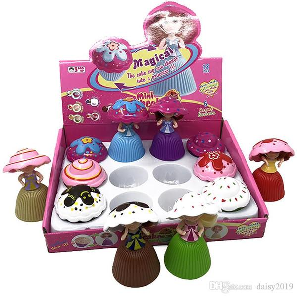 Kids Cake Princess Doll Flipping Toy Girl Novella profumata Mini Cake Doll Girl Toy Doll per bambini che giocano a casa Giocattoli Regali