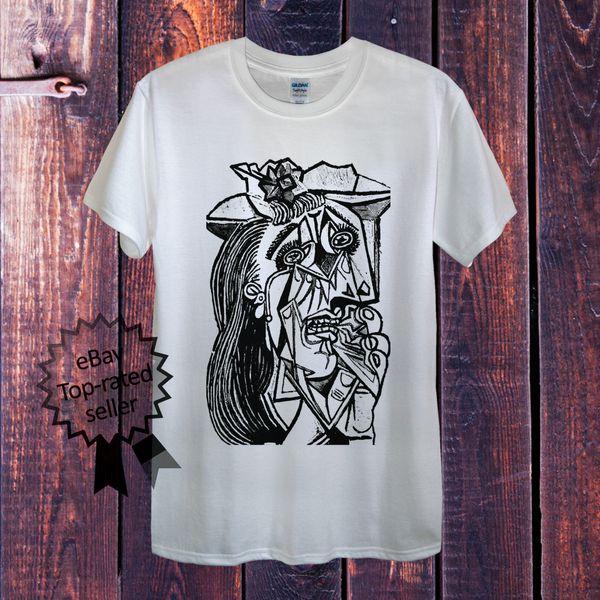 Picasso Pablo T-Shirt Top Men Unisex Women Fitted Art Cubism Pop 2018 Men'S Lastest Printed funny T-Shirt
