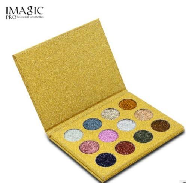 Factory Wholesale Directly 12 Colors Palette Makeup Glitter Paint Eye Shadow Waterproof Cosmetics Glitter Single Eye Shadow Magnet Palette