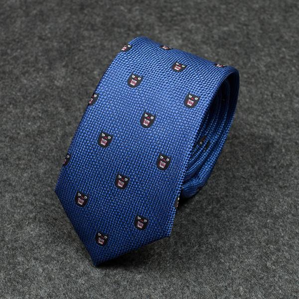 Tie men's dress blue professional business wild Korean students trend dress business young casual dog head necktie
