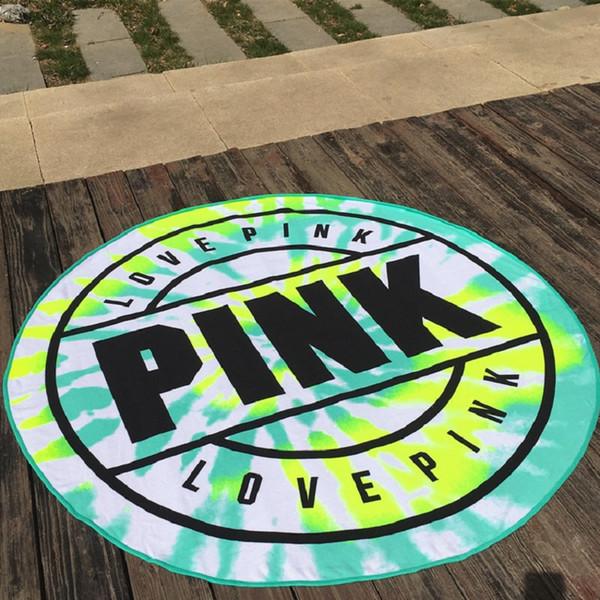 Asciugamano da spiaggia 160CM Asciugamano da spiaggia rotondo in microfibra rosa Microfibra morbida assorbente Asciugatura rapida da bagno Spiaggia Asciugamani da spiaggia Coperta da picnic