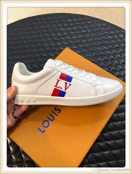 Spor Erkek Ayakkabı Lüks 2019 Klasik Yüksek Kalite Casual Deri Büyük Boy Erkek Ayakkabı Lastik Sole Bayan Unisex Lüks Sıcak