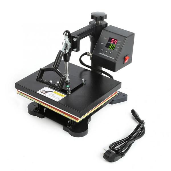 EU Plug 230V Alta Pressão Dual-visualização Digital T-shirt manual da imprensa do calor da máquina