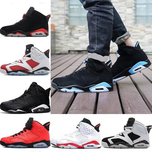 Chaussures Mens 6 scarpe da basket 6s Designer formatori UNC Black Cat infrarosso 23 Carmine Maroon Sport Sneakers Scarpe Taglia 41-47