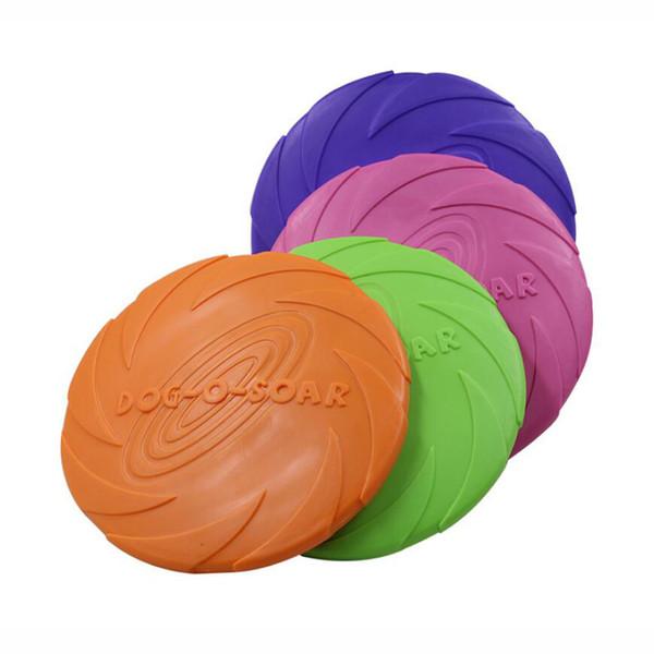 10pcs/lot Pet Dog Flying Disc 100% Soft Rubber Floatable Doggy Friendly Pet Frisbee Factory Wholesale