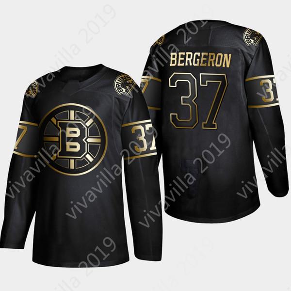 Bruins de Boston de la Golden Edition 2019 37 Patrice Berg 63 Brad Marchand 88 Zado Chara de David Pastrnak Chara Charlie Mcavoy Maillot de hockey Jake DeBrusk